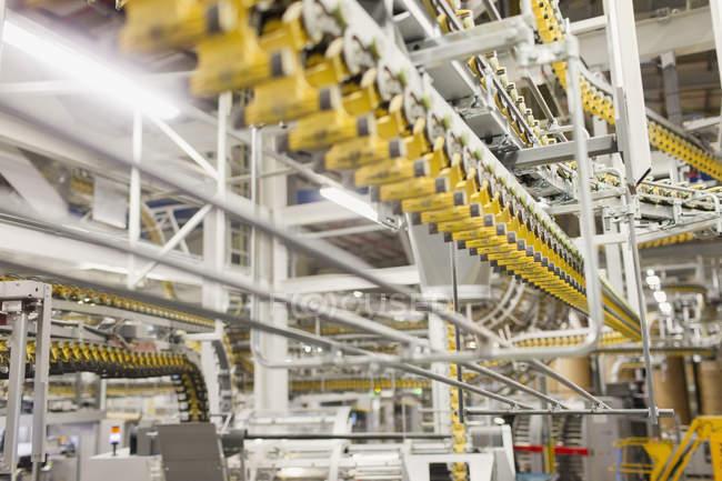 Druckmaschine Förderbänder — Stockfoto