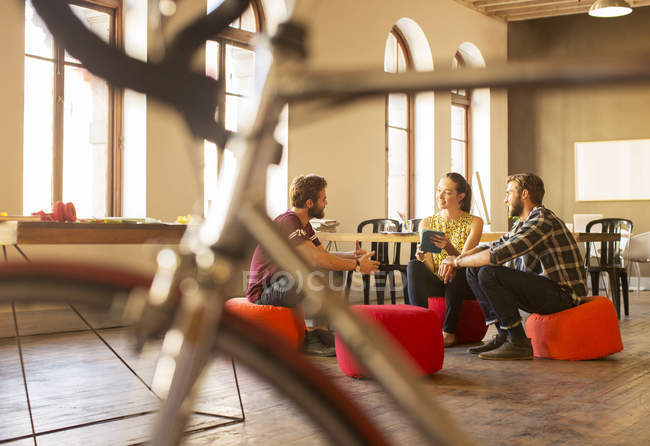 Creative business people meeting with digital tablet in office — Stock Photo