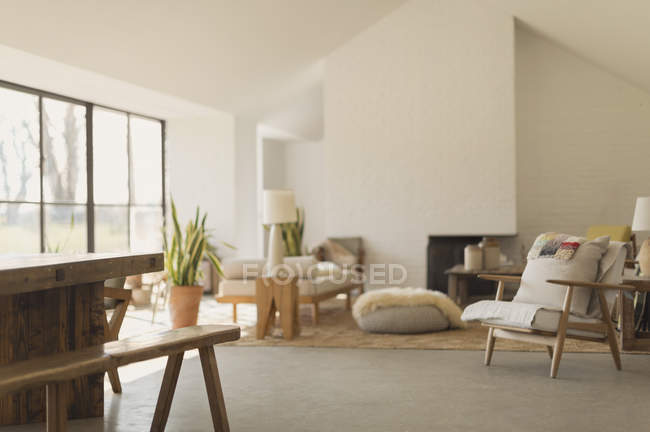 Home showcase living room — Stock Photo