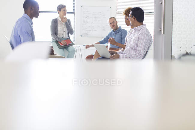 Group of business people having meeting in modern in office — Stock Photo