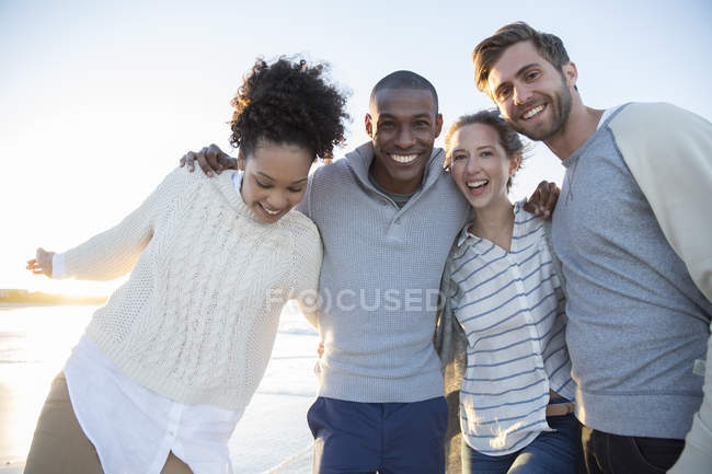 Portrait of four friends having fun — Stock Photo