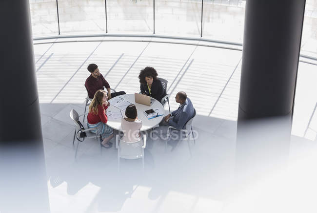Business people meeting, planning at office table — Stock Photo