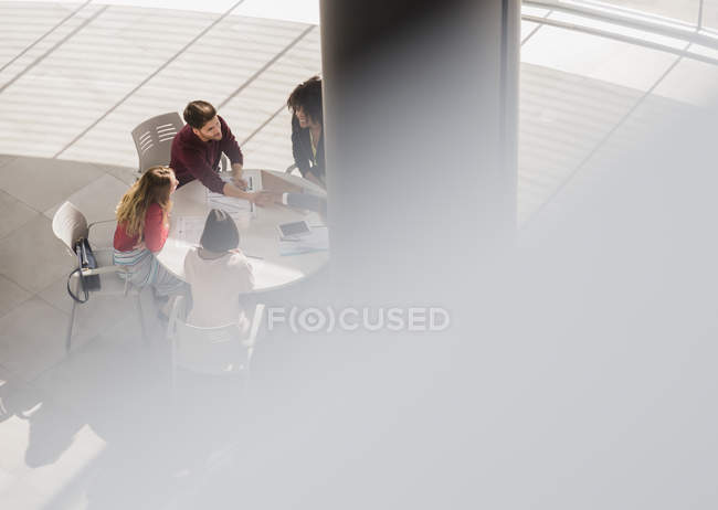 Business people meeting, planning in office meeting — Stock Photo
