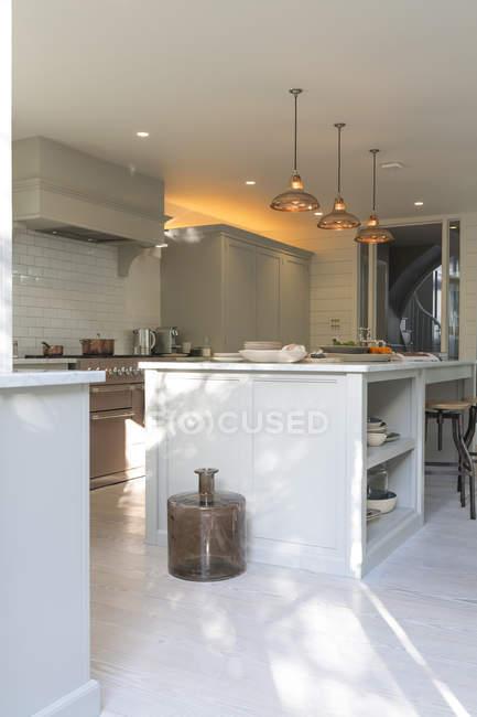 Luxus-Wohnvitrine Küche — Stockfoto