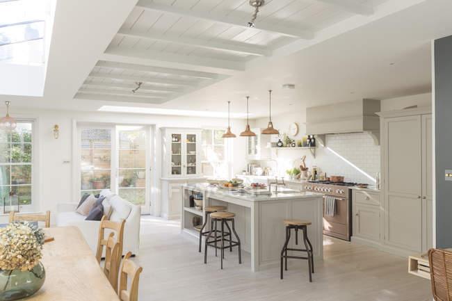 Роскошные дома витрина кухня — стоковое фото