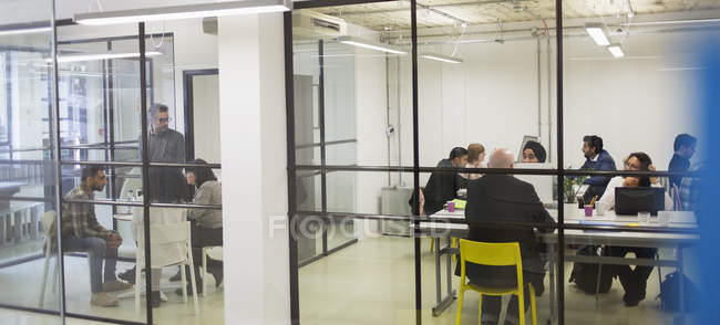 Business people meeting in office and conference room — Stock Photo