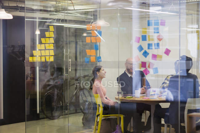 Creative business people brainstorming in conference room meeting — Stock Photo