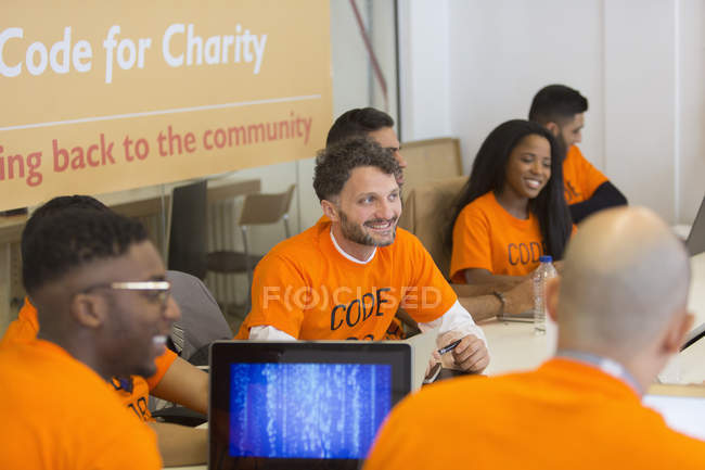 Pirates de codage pour la charité hackathon — Photo de stock