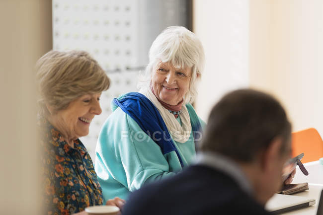 Senior businesswomen in meeting at modern office — Stock Photo