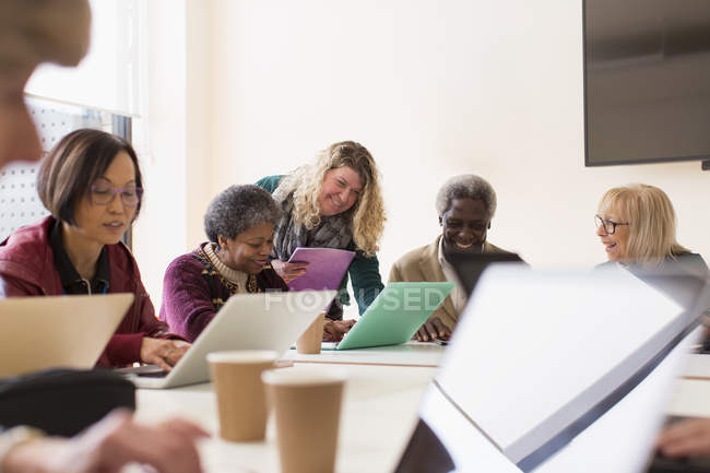 Senior business people in conference room meeting — Stock Photo
