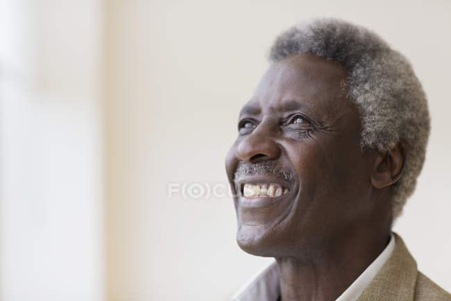 Portrait smiling, confident senior man — Stock Photo