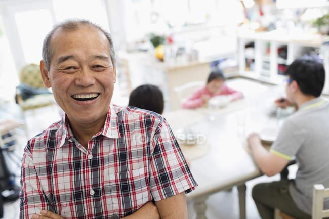 Portrait happy senior man — Foto stock
