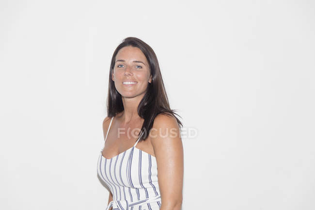 Portrait smiling, confident woman — Stock Photo
