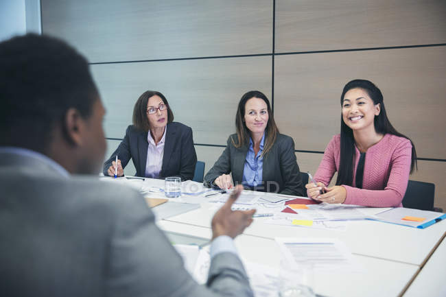 Business people talking in conference room meeting — Stock Photo