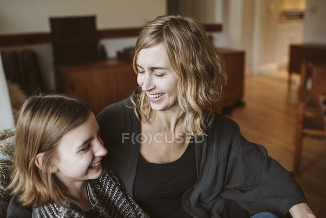 Happy mother and daughter bonding — Stock Photo