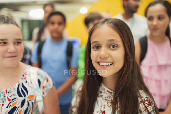 Portrait of confident, smiling junior high student — Stock Photo