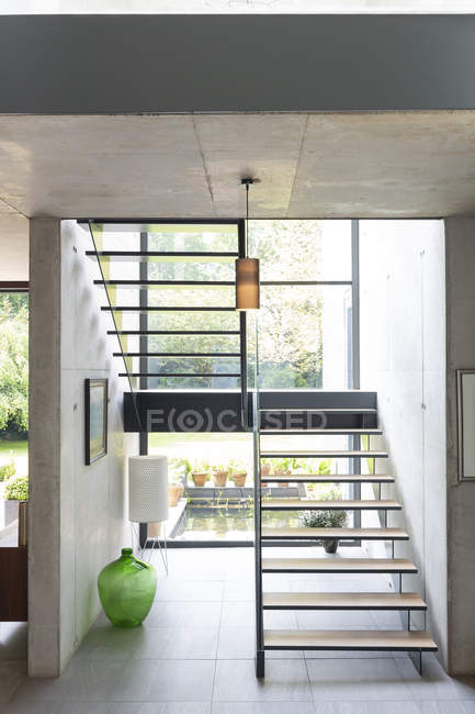 Modern staircase in house — Stock Photo