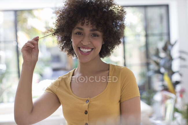 Portrait happy young woman — Stock Photo
