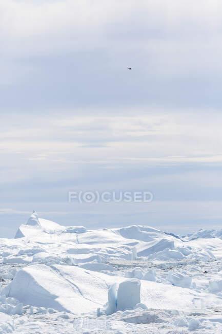 Вид таяния льда Гренландия — стоковое фото