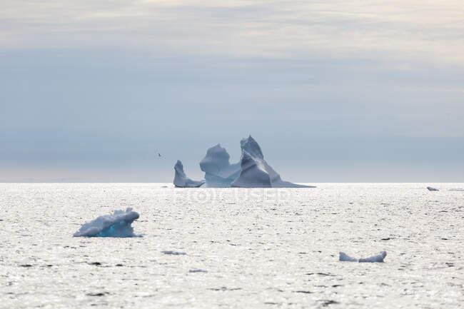 Iceberg formation on Atlantic Ocean Greenland — Stock Photo