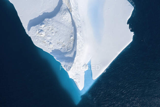 Drone point of view melting iceberg Greenland — Stock Photo