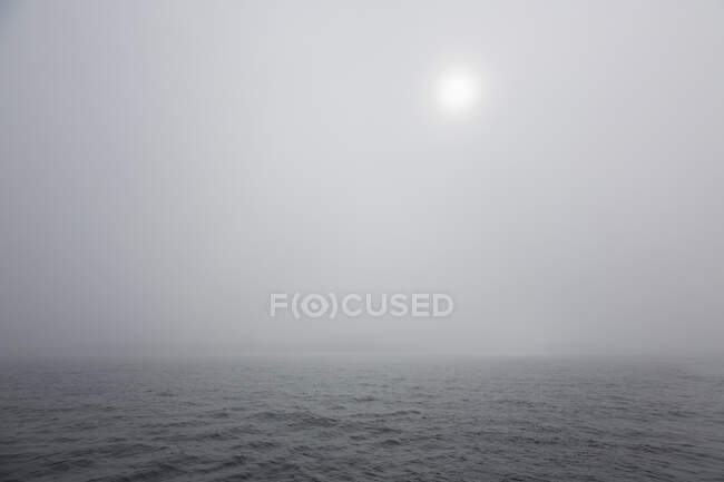 Thick gray fog over ethereal Atlantic Ocean — Stock Photo