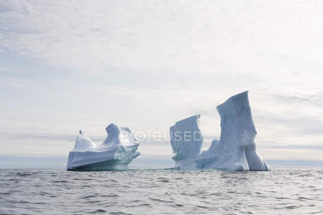 Majestic iceberg formations on Atlantic Ocean Greenland — Stock Photo