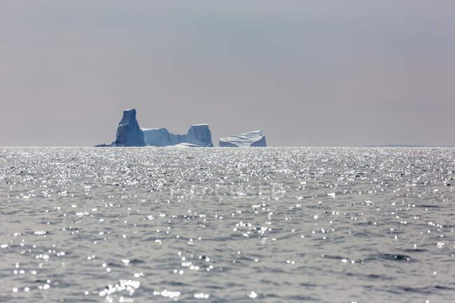 Айсберги над солнечной Гренландией Атлантического океана — стоковое фото