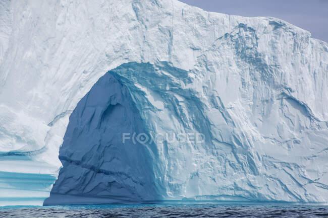 Majestic iceberg arch Greenland — Stock Photo