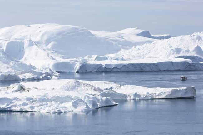 Gelo glacial polar Disko Bay West Greenland — Fotografia de Stock