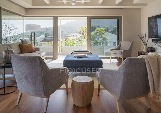 Home showcase interior living room — Stock Photo