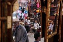 30 settembre 2010. Marocco, Marrakech. Persone su souk — Foto stock