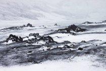Paisajes nevados de Islandia, dyngjufjoll - foto de stock