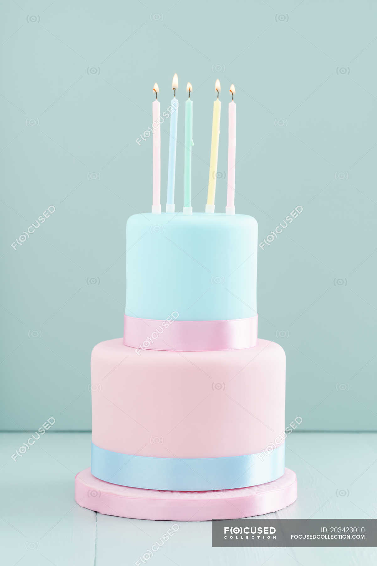 Fantastic Birthday Cake With Candles Pastel Colors Tasty Burning Candles Funny Birthday Cards Online Elaedamsfinfo