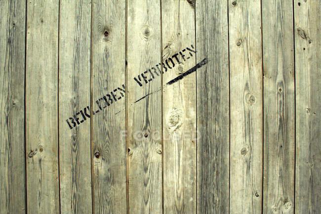 Planches de bois mur, clôture en bois — Photo de stock