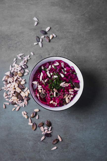 Rote-Bete-Salat, veganes Essen — Stockfoto