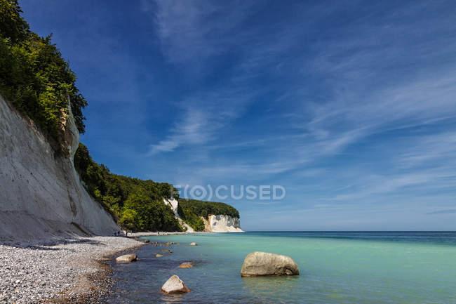 Узбережжя Балтійського моря в Національний парк jasmund — стокове фото