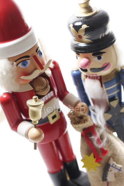Santa Nutcracker And Wooden Soldier Toy New Year Christmas