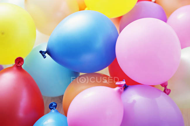 Colorful party balloons, full frame — Stock Photo