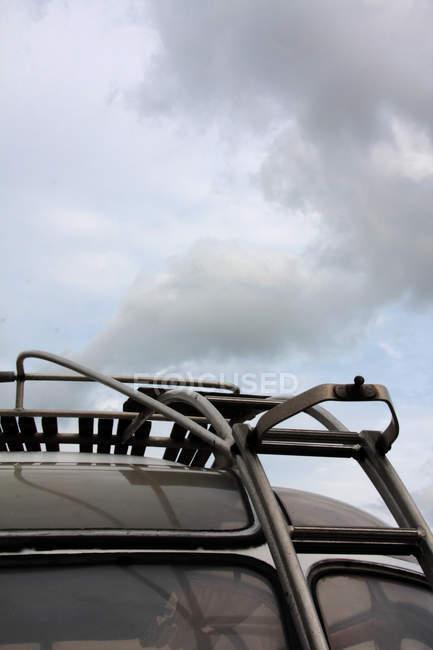 Cropped image of roofrack on car, journey vehicle car — Stock Photo