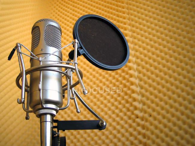 Mikrofon, Tonaufnahmegerät — Stockfoto