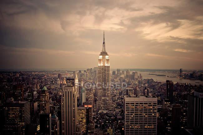 New york city, Manhattan, empire state building — Stock Photo