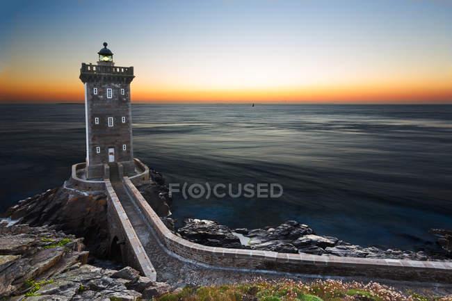 Lighthouse in Brittany, France, phare de kermorvan — Stock Photo