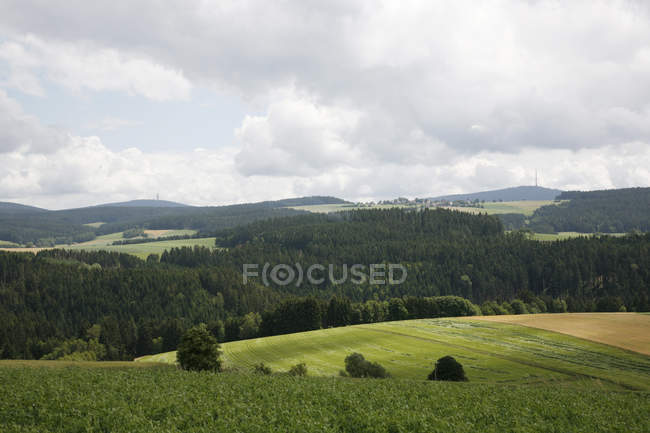 Rural scene of Fichtel Mountains — Stock Photo
