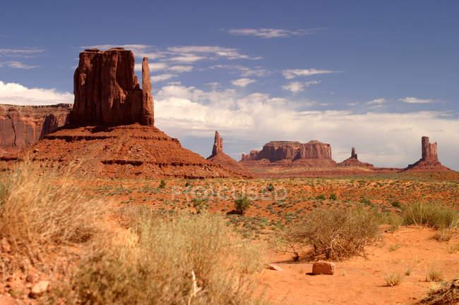 Canyon no vale do monumento, Utah, E.u.a. — Fotografia de Stock