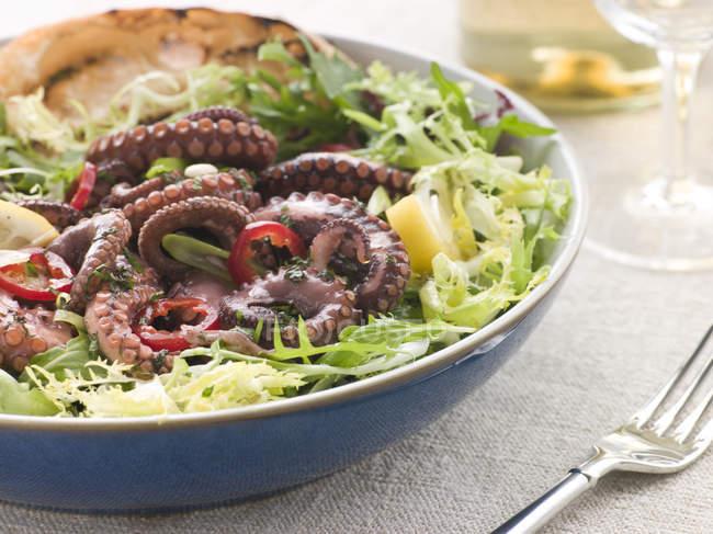 Страви середземноморської кухні, салат з восьминіг — стокове фото