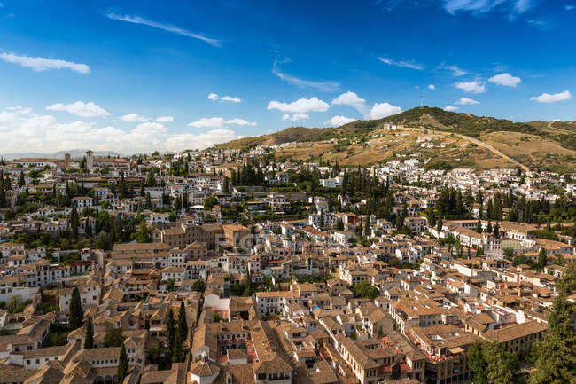 Antiguas casitas en Granada, Andalucía, España - foto de stock
