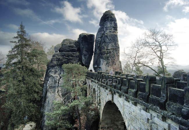 Эльбские песчаниковые горы, бастион мост — стоковое фото