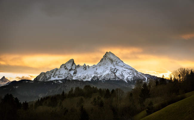 Watzmann montagnes dans les Alpes bavaroises, Allemagne, — Photo de stock