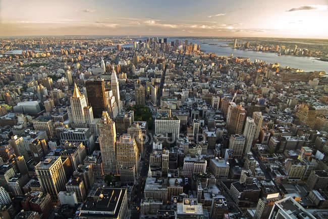 New York, gratte-ciel en manhattan — Photo de stock